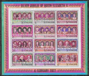 St. Vincent #494a s/sheet F-VF Mint NH ** Kings and Queens of England