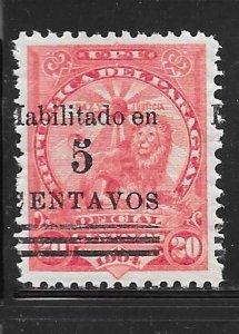 Paraguay 158: 5c on 20c Sentinel Lion overprint, MH, F-VF