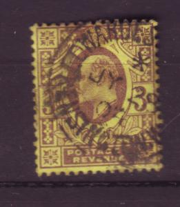 J19688 Jlstamps 1902-11 great britain used #132 king