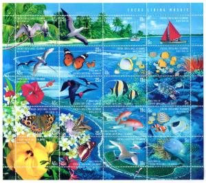 COCOS ISLAND 331 MH S/S SCV $17.00 BIN $8.50 LIVING MOSAIC