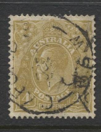 Australia - Scott 118 - KGV Head -1931 - FU - Wmk 228 -  4p Stamp
