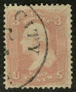US US #64 SCV $1100.00 VF/XF, used, TRUE PINK COLOR, very well centered, love...