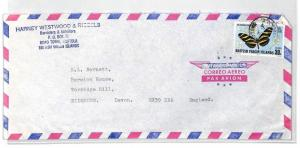 BT248 British Virgin Islands Tortola Commercial Air Mail Cover {samwells}PTS