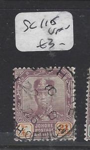 MALAYA JOHORE (P0211B)  SULTAN  21C   SG 115    VFU