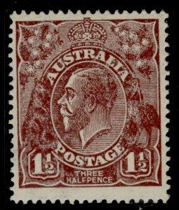 AUSTRALIA GV SG52, 1½d red-brown, M MINT. Cat £14.