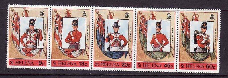 St Helena-Sc#509- id5-unusedNH set-Military-Uniforms-