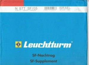 Lighthouse Leuchtturm Supplement N87T SF/05 Israel Tabs