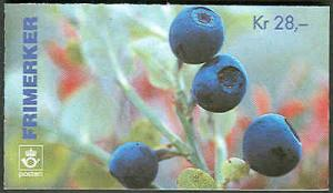 NORWAY #1087a (H84aa) Complete Berries Booklet, VF