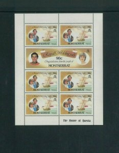 Wholesale Lot Prince Charles & Diana Wedding. Montserrat 465-70 (Cat.977.50)