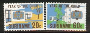 Suriname Scott 539-540 mnh** SOS set