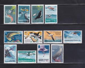Australian Antarctic Territory L23-L34 Set MNH Various (A)