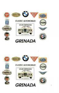 Grenada 1983 Motoring Anniversary (Cougar XR-7) $5 m/shee...