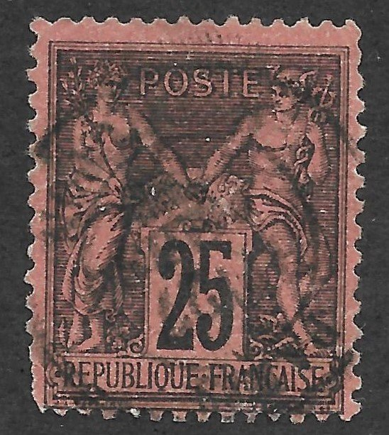 Doyle's_Stamps: 1878 French Used Scott #93  cv $25.00