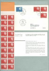 Sweden FDC 1962. + Booklet 25 Ore. Nobel-Prize 1902. Engrav: Wallhorn. Address.