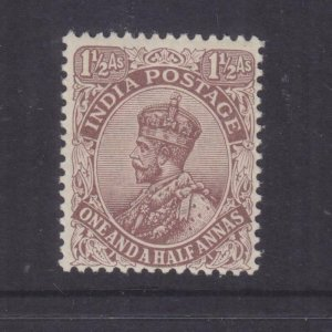 INDIA, 1921 KGV, Large Star, 1 1/2As. Chocolate, lhm.