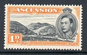 Ascension 1938 KGVI 1d perf 13½ SG 39a mint CV