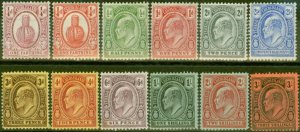 Turks & Caicos Is 1909-11 set of 12 SG115-126 V.F Very Lightly Mtd Mint