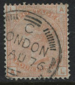 Great Britain 1876 vermilion Plate 15 CDS SUPERB used (JD)