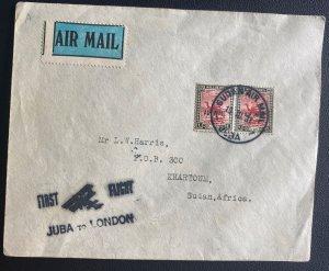 1931 Juba Sudan First Flight Airmail Cover FFC To Khartoum