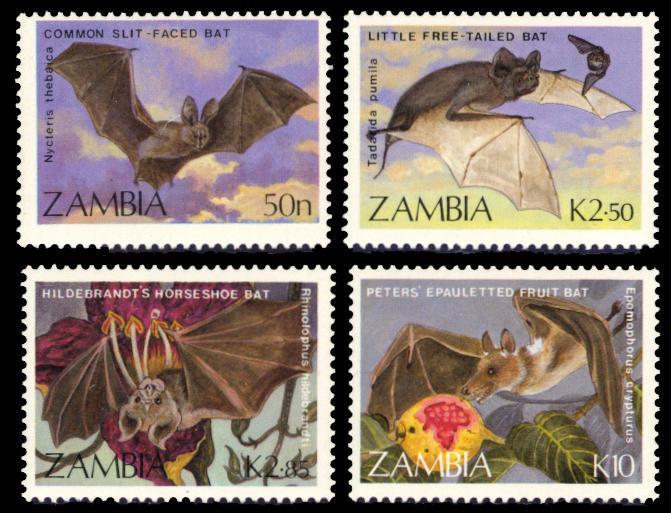Zambia MNH 466-9 Bats