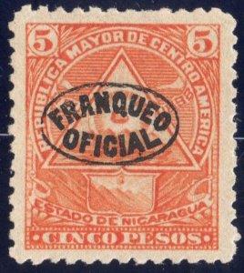 Nicaragua 1898 5p vermillion SC O128