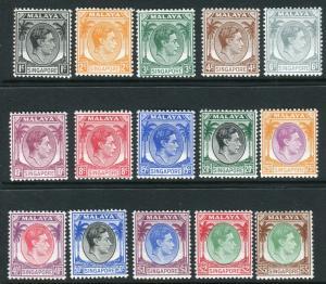 SELANGOR-1949-55  A mounted mint set to $5 Sg 90-110