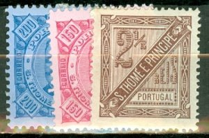 M: St Thomas & Prince 27-38, P12 mint CV $55.70; scan shows only a few