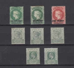 St Helena QV/KEVII Collection Of 8 Values MH JK6271