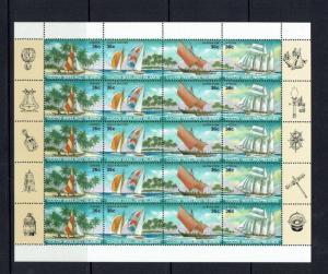 Cocos (Keeling) Islands: 1987, Local Sailing Craft, Sheetlet, MNH