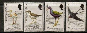 TRISTAN DA CUNHA SG486/9 1989 VAGRANT BIRDS MNH