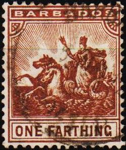 Barbados. 1892 1/4d S.G.163 Fine Used