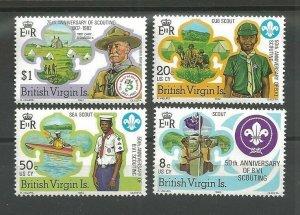 1982 British Virgin Islands Boy Scout 75th anniversary