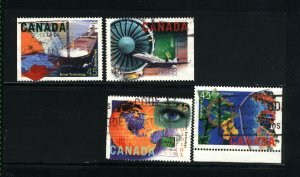 Canada #1595-98   -2    used VF 1996  PD