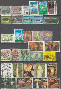 COLLECTION LOT # 2356 GUYANA 32 STAMPS 1966+