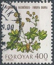 Faroe Islands 52 (used) 400o lady's mantle (Alchemilla faroensis) (1980)