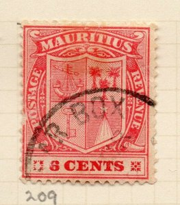Mauritius 1921-34 Early Issue Fine Used 3c. NW-90911