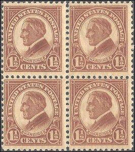 553 Mint,OG,NH... Block of 4... SCV $16.40