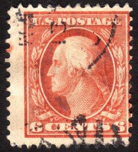 1911, US 6c, Washington, Used, Sc 379