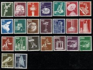 GERMANY BERLIN 1975-82 INDUSTRY & TECHNOLOGY MINT (NH) SG B487-491 P.14 SUPERB