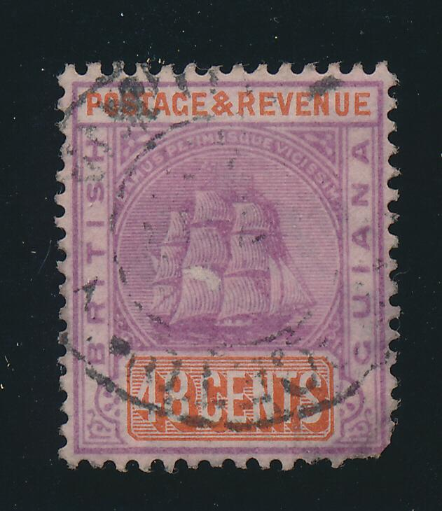 British Guiana Stamp Scott #143, Used - Free U.S. Shipping, Free Worldwide Sh...