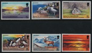 South Georgia 248-53 MNH Millennium, Birds, Animals, Church