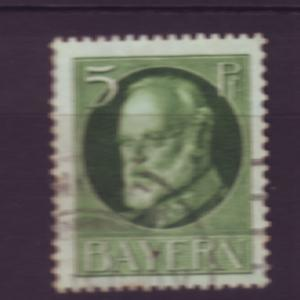 J3650 JLstamps 1914-20 germany bavaria used #96 king ludwig