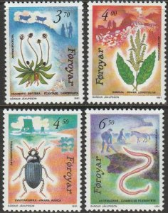 Faroe Islands, #216-219 Unused   From 1991