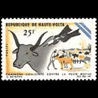 BURKINA FASO 1966 - Scott# 170 Cattle Plague Set of 1 NH