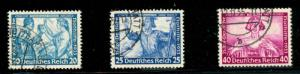 momen: Germany Stamps #B55-B57 Used VF