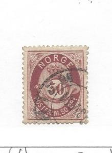 Norway, 30, Post Horn and Crown Single, **Used** #4