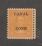 CANAL ZONE 75 MINT NEVER HINGED