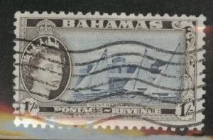 Bahamas Scott 168 QE2 Used