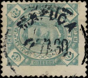 PORTUGUESE INDIA - ca.1895/98 - MAPUÇA DATE STAMP ON MiNr.162A/YvNr.133B 6R