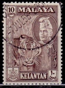 Malaya, Kelantan , 1957-63, Sultan Tengku Ibrahim, 10c, used